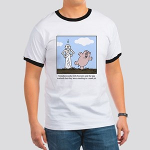 Socrates and the Pig Ringer T