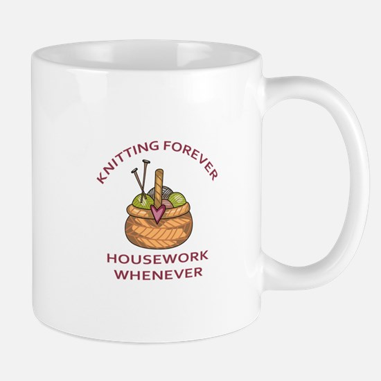 KNITTING FOREVER Mugs