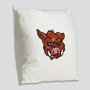 BOARS HEAD Burlap Throw Pillow