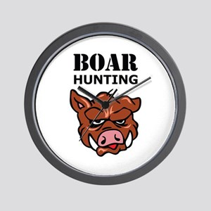 BOAR HUNTING Wall Clock