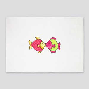 FISH KISSING 5'x7'Area Rug
