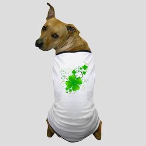 4 Leaf Clovers Dog T-Shirt