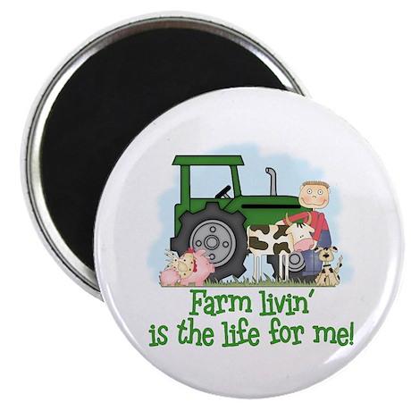 """Farm Livin' (Boy) 2.25"""" Magnet (10 pack)"""