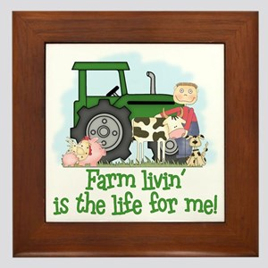 Farm Livin' (Boy) Framed Tile