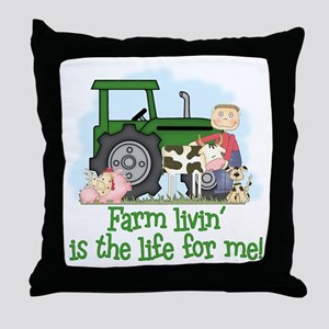 Farm Livin' (Boy) Throw Pillow
