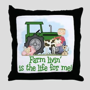 Farm Livin' (Boy) Throw Pillow