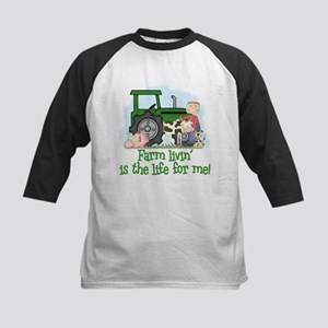Farm Livin' (Boy) Kids Baseball Jersey