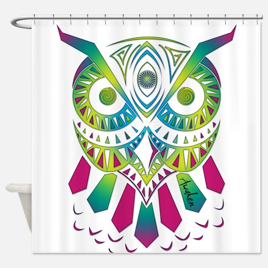 Funny Trippy Shower Curtain