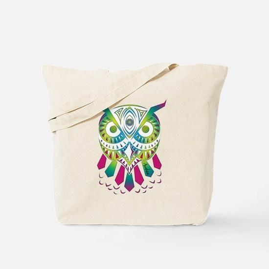 Unique Pink owl Tote Bag