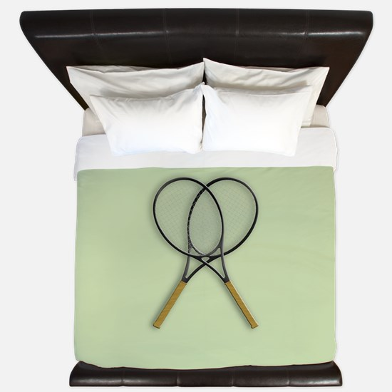 Tennis Racquets Sport Design King Duvet
