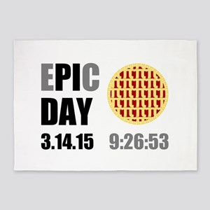 Epic Pi Day 2015 5'x7'Area Rug
