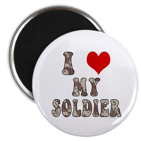 """I Love (heart) My Soldier 2.25"""" Magnet (100 pack)"""