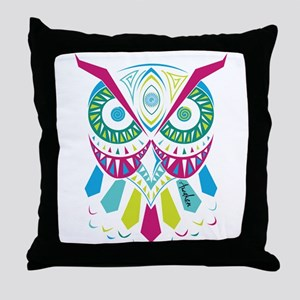 3rd Eye Awaken Owl Throw Pillow
