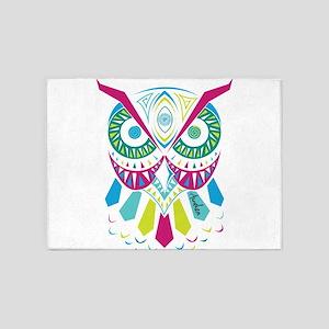 3rd Eye Awaken Owl 5'x7'Area Rug