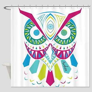 3rd Eye Awaken Owl Shower Curtain