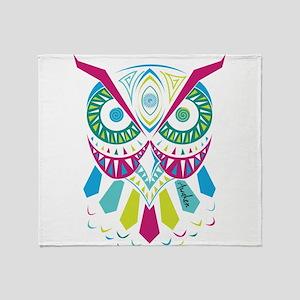 3rd Eye Awaken Owl Throw Blanket
