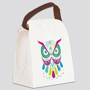 3rd Eye Awaken Owl Canvas Lunch Bag