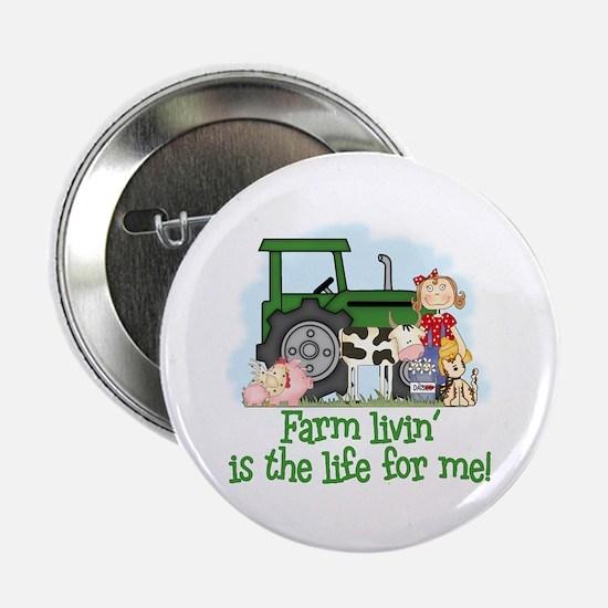 Farm Livin' (Girl) Button