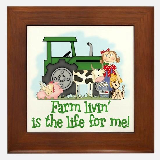 Farm Livin' (Girl) Framed Tile