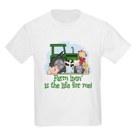 Farm Livin' (Girl) Kids Light T-Shirt