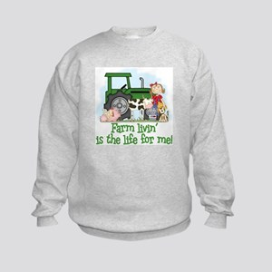 Farm Livin' (Girl) Kids Sweatshirt