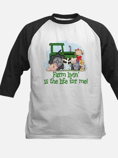 Farm Livin' (Girl) Kids Baseball Jersey