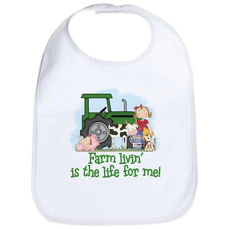Farm Livin' (Girl) Bib