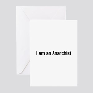 I am an anarchist Greeting Cards (Pk of 10)