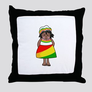 AFRICAN CHILD Throw Pillow