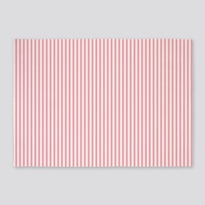 Pink Ticking 5'x7'Area Rug