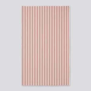 Red Ticking Area Rug