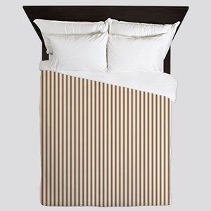 Brown Ticking Queen Duvet