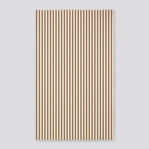 Brown Ticking Area Rug