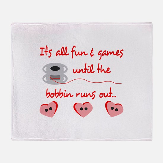 ALL FUN AND GAMES Throw Blanket