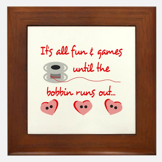 ALL FUN AND GAMES Framed Tile