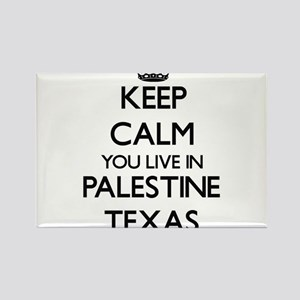 Keep calm you live in Palestine Texas Magnets