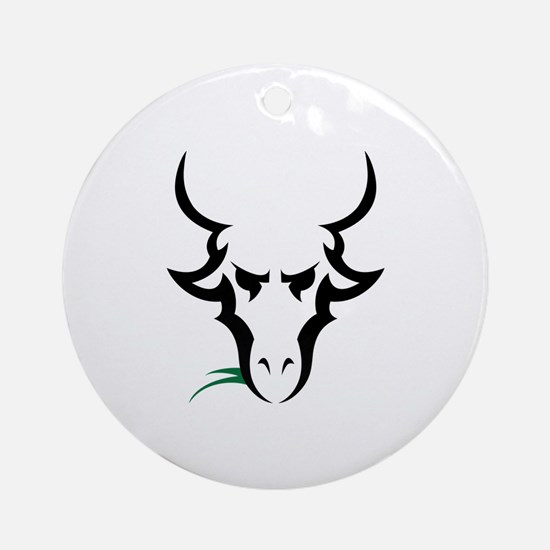 TRIBAL GOAT Ornament (Round)