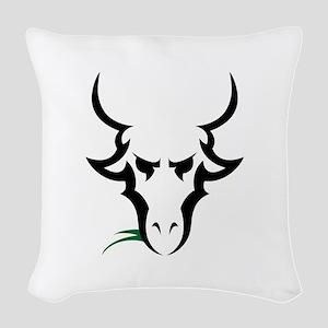 TRIBAL GOAT Woven Throw Pillow
