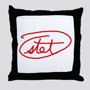 Stet Throw Pillow