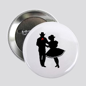 """SQUARE DANCERS 2.25"""" Button (10 pack)"""