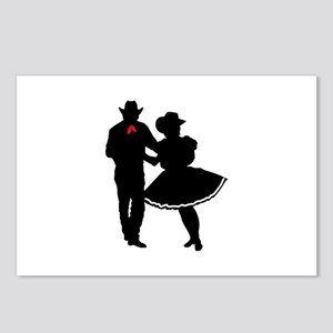 SQUARE DANCERS Postcards (Package of 8)