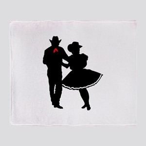 SQUARE DANCERS Throw Blanket