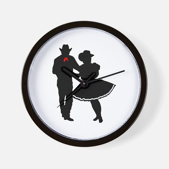 SQUARE DANCERS Wall Clock