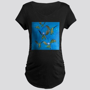 Funny cartoon dragon Maternity T-Shirt