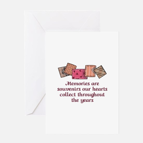 MEMORIES ARE SOUVENIRS Greeting Cards