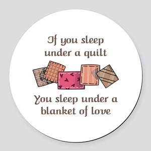 BLANKET OF LOVE Round Car Magnet