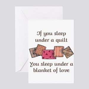 Sew greeting cards cafepress blanket of love greeting cards m4hsunfo