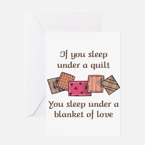 BLANKET OF LOVE Greeting Cards