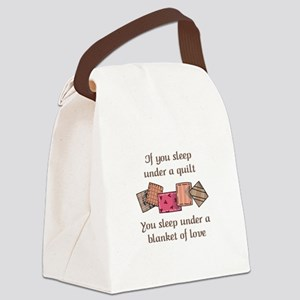 BLANKET OF LOVE Canvas Lunch Bag