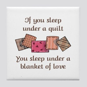 BLANKET OF LOVE Tile Coaster